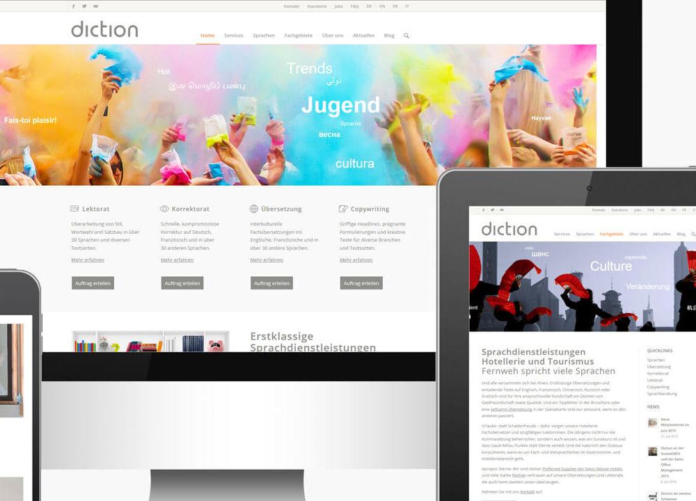 diction: mit neuer website ins jahr gestartet