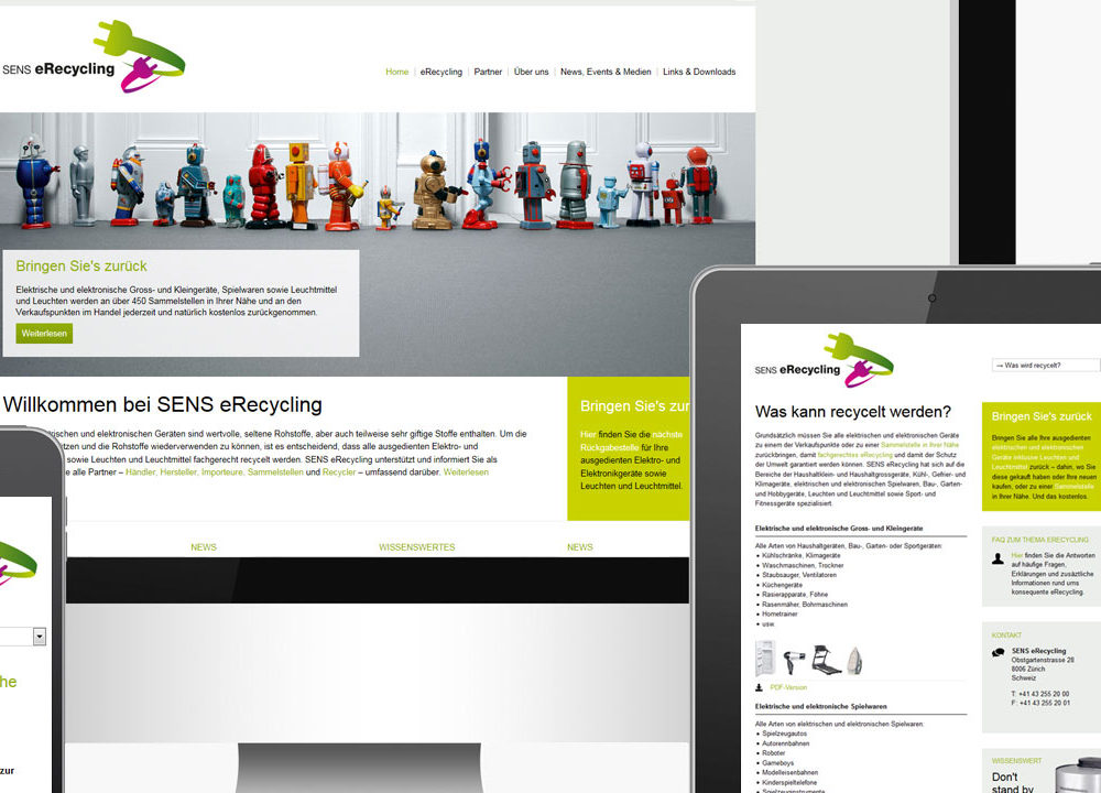 sens eRecycling: userorientierter webauftritt für endkonsumenten und b2b-partner