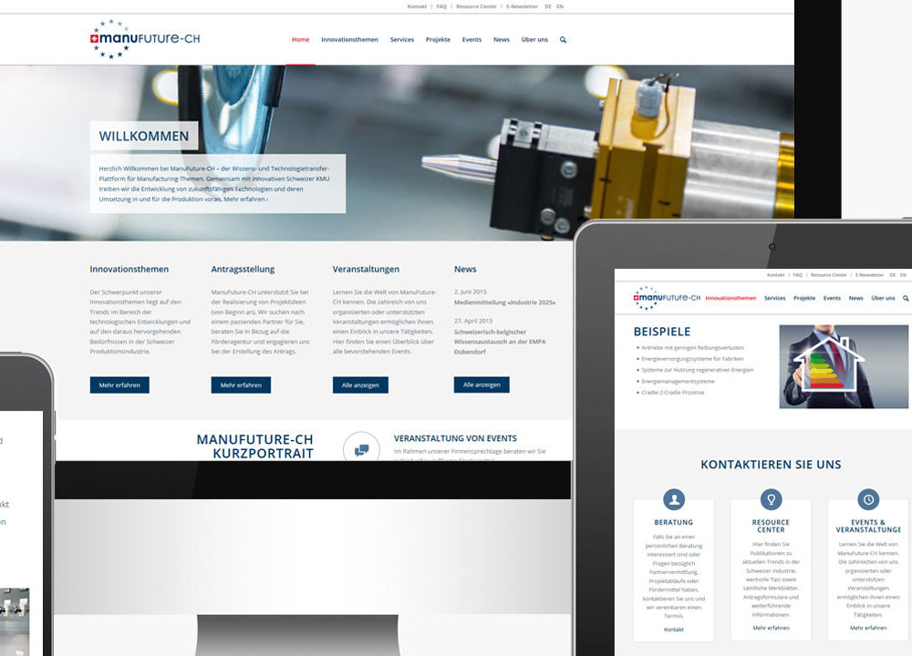 manufuture-ch: neue website online