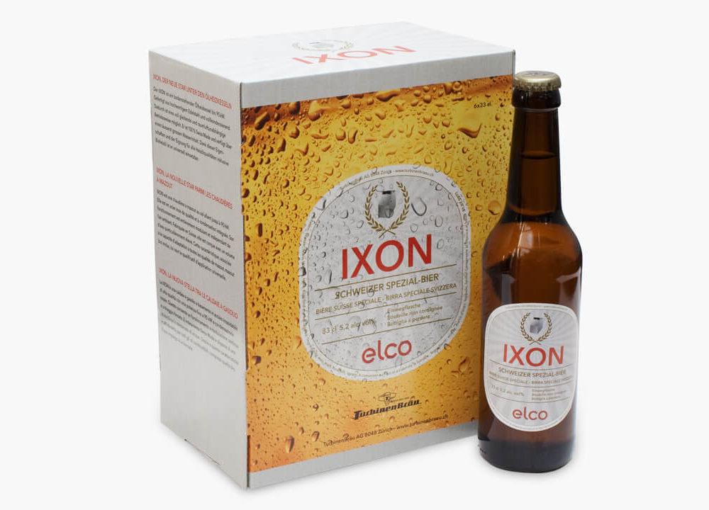 elco mit bier und spiel: ixon mehrstufig verankert