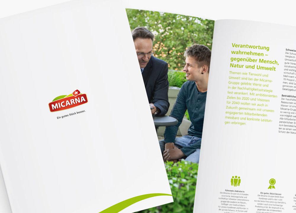 micarna sa: neue imagebroschüre für die marktführerin
