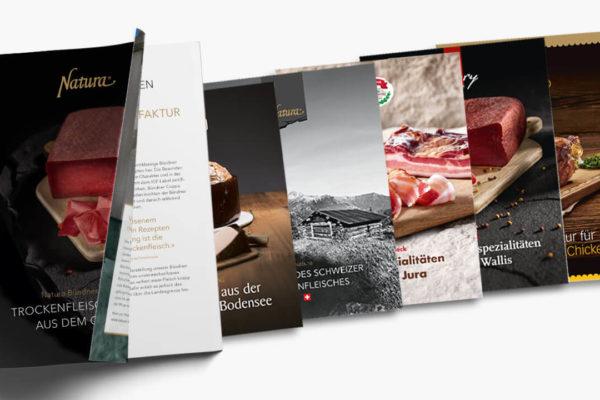 micarna-unternehmen: imagebroschüren für rudolf schär, favorit geflügel & co.
