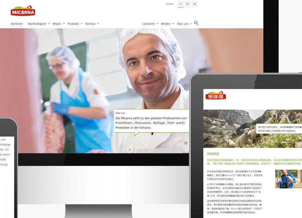 micarna: relaunch webauftritt