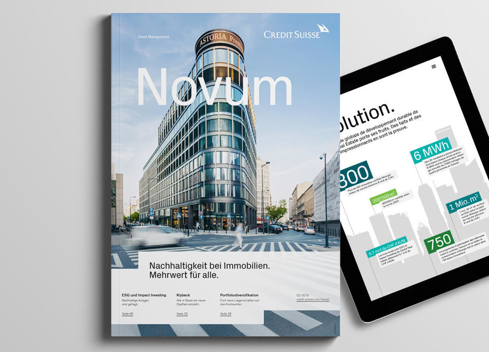 credit suisse asset management: anlagemagazin «novum» fürs global real estate